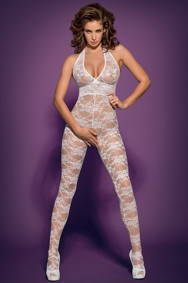Бодикомбинезон Bodystocking L400 white, Obsessive, Польша